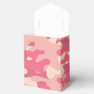 Pink Camo Design Wedding Favor Boxes