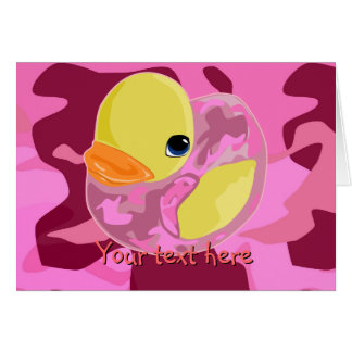 Pink Camo Ducky Card