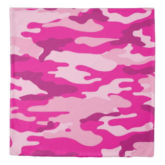 Pink Camo Duvet Cover, hot pink camouflage bedroom Duvet Cover