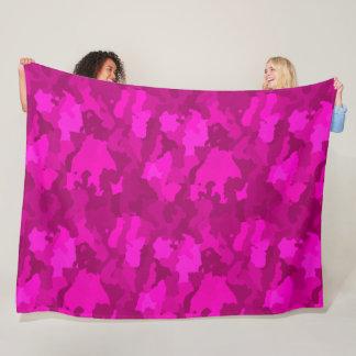 Pink Camo Fleece Blanket