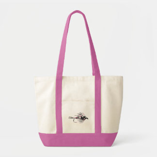 Pink Camo Fly Fishing Lure Tote Bag
