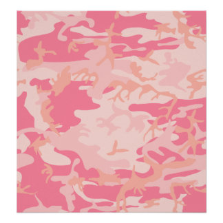 Pink Camo - Girly Camo Poster