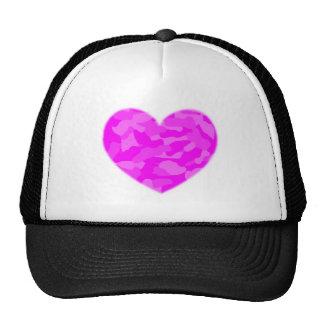 Pink Camo Heart Mesh Hat