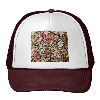 Pink Camo & Hearts Mesh Hat