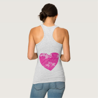 Pink Camo Hearts Tank Top