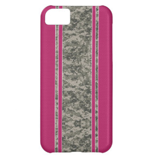 Pink & Camo iPhone 5 Case - Camo & Pink Stripes