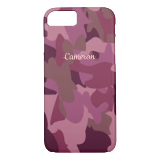 Pink Camo iphone Case Military Camouflage Name