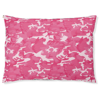 Pink Camo Large Dog Bed