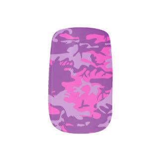 Pink Camo Minx Nail Art