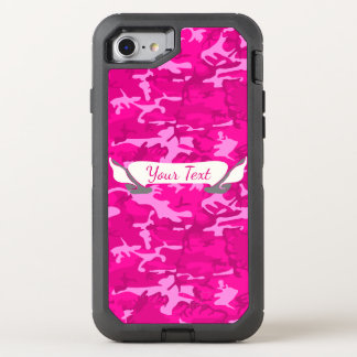 Pink Camo OtterBox Defender iPhone 8/7 Case