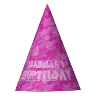 Pink Camo Party Hat