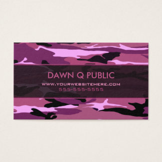 Pink Camo Pattern Business Card