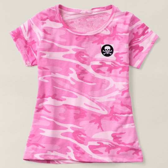 Pink Camo Rocker Chic T-shirt