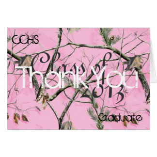 Pink Camo Thank You card