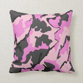 Pink Camo, Throw Pillow