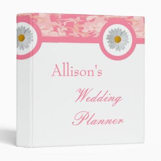 Pink Camo Wedding Planner Binder
