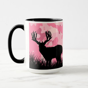 Pink Camo Whitetail Buck Deer Mug