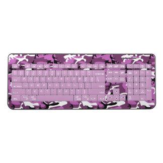 Pink Camo Wireless Keyboard