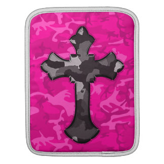 Pink Camo with Cross Sleeve For iPads