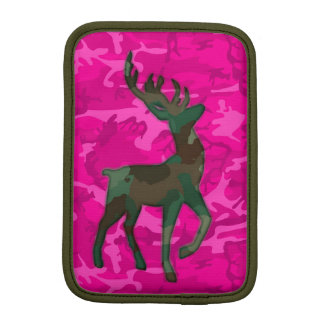 Pink Camo with Deer iPad Mini Sleeve