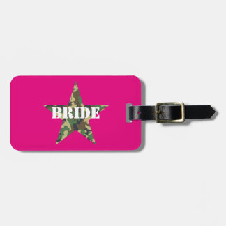Pink Camouflage Bride Bachelorette Luggage Tags