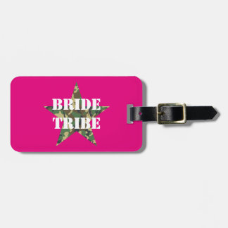 Pink Camouflage Bride Tribe Luggage Tags