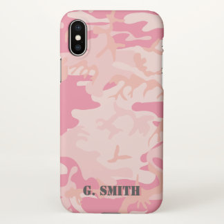 Pink Camouflage. Camo your iPhone X Case