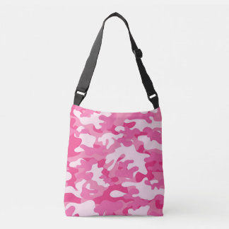 Pink Camouflage Cross Body Bag