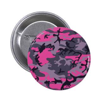 Pink camouflage design 2 inch round button