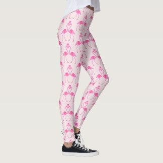 Pink Camouflage Flamingo Valentine's Day Leggings