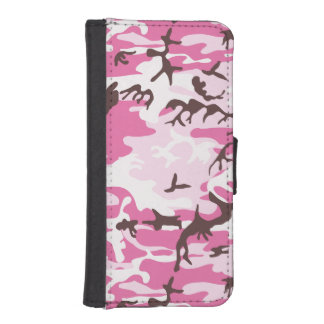 Pink Camouflage iPhone SE/5/5s Wallet Case