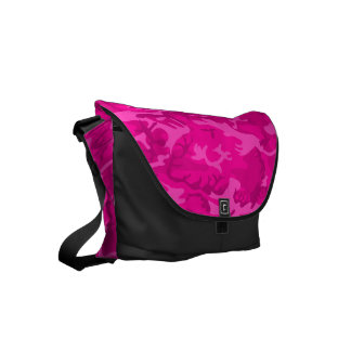 Pink Camouflage Messenger Bag