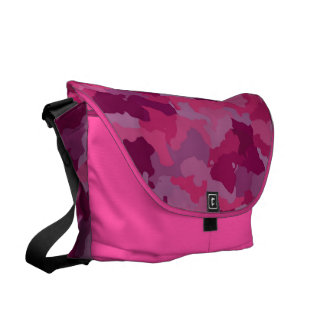 Pink Camouflage Messenger Bags