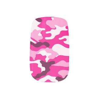 Pink Camouflage Minx Nail Art