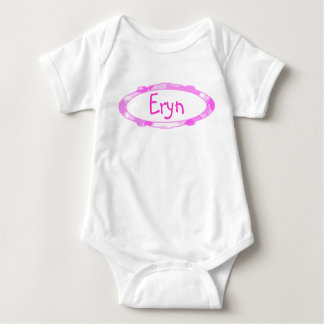 Pink Camouflage Oval Frame Background Baby Bodysuit