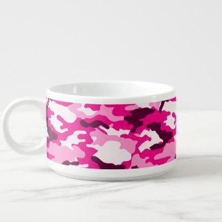 Pink Camouflage Pattern Chili Bowl