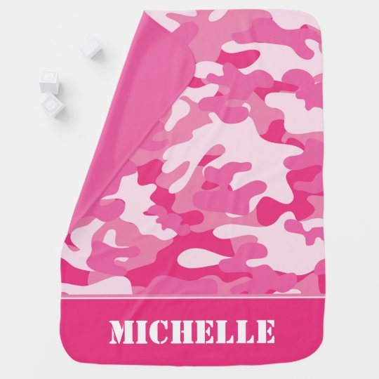 Pink Camouflage | Personalized Receiving Blankets