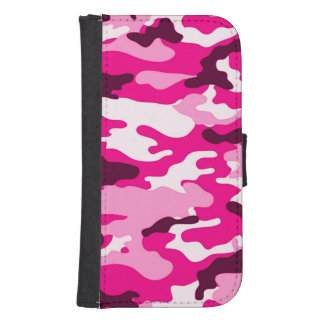 Pink camouflage Samsung Galaxy S4 Wallet Case