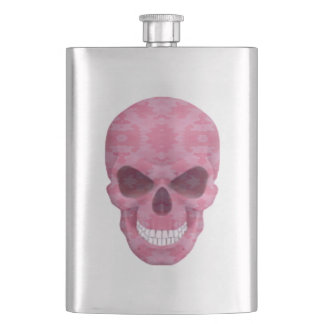 Pink Camouflage Skull Flask