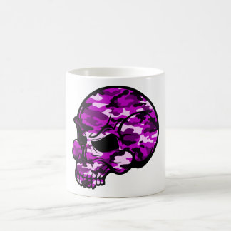 Pink camouflage skull head graffiti tottoo art coffee mug