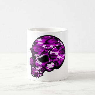 Pink camouflage skull head graffiti tottoo art coffee mug