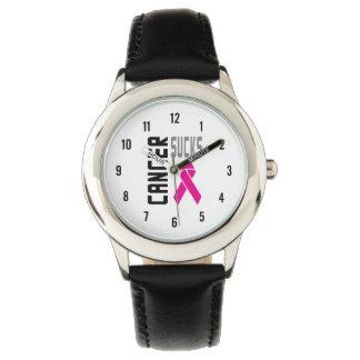 Pink Cancer Sucks Watch