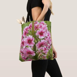 Pink Candelabra Primula Floral Tote Bag