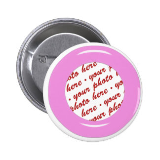 Pink Candy Ring Template Photo Frame Pinback Button