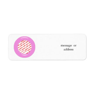 Pink Candy Ring Template Photo Frame Return Address Label