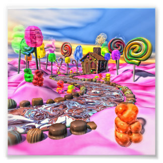 Pink Candyland Photographic Print