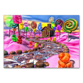 Pink Candyland Table Cards