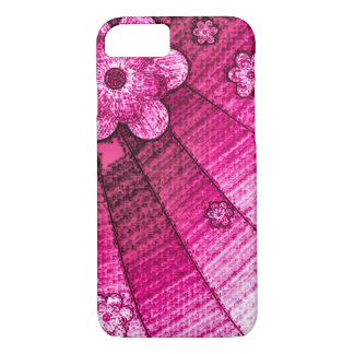 Pink Canvas Wall Flowers iPhone 7 Case