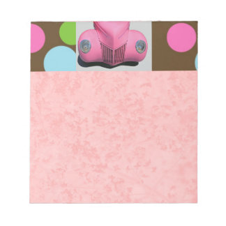 Pink Car Notepad