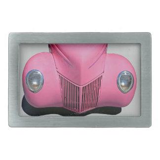 Pink Car Rectangular Belt Buckle